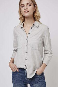 Photo 3 of PETITE Chambray Shirt w