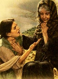 Naomi's other daughter in law, Orpah, she did not accompany Ruth and became the mother of Goliath. Bible Photos, Bible Pictures, Psalm 133, Scripture Study, Bible Art, Lds Seminary, Church Pictures, Christian Artwork, Lds Art