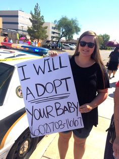 Some people at the #DefundPP protest had in important and heartfelt message to the women going to the clinic for an abortion...