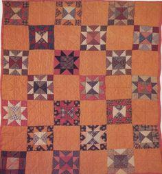 Star Quilt, c 1880. Maker unknown.