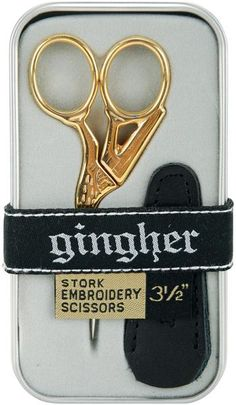 Stork Embroidery Scissors 3-1/2 -With Leather Sheath $17.77