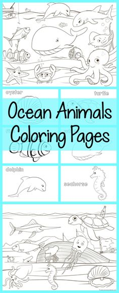 OCEAN COLORING PAGES {FREE PRINTABLE | Pinterest | Free printable ...