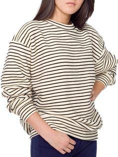 Stripe Drop-Shoulder Pullover American Apparel