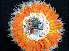 Bjork Hair Flower #DEHF49 #hairflower #hairaccessories #hairflowerclip #steampunkaccessories