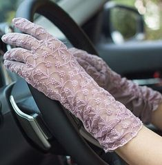 Lady's Slip-proof Sexy Lace Driving Gloves (Sunscreen gloves in 37 styles) – A Lark And A Lady Coupon! Buy 1 Qualifying Boho Chic Accessory Item & Get 1 Qualifying Boho Chic Accessory at off Hand Accessories, Winter Accessories, Clothing Accessories, Princess Outfits, Princess Clothes, Elegant Gloves, Dress Design Sketches, Gloves Fashion, Driving Gloves