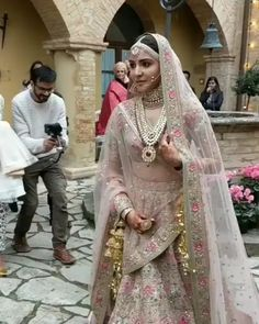 Wedding Pictures of Virat kohli and Anushka Sharma - And Yes they Did! Actress Anushka Sharma and cricketer Virat Kohli tied the knot in Italy on Monday. We have published the dreamy images of their wedding that will melt the heart of their fans. Indian Bridal Lehenga, Indian Bridal Wear, Indian Wedding Outfits, Bridal Outfits, Indian Wear, Indian Outfits, Bridal Dresses, Indian Clothes, Virat And Anushka