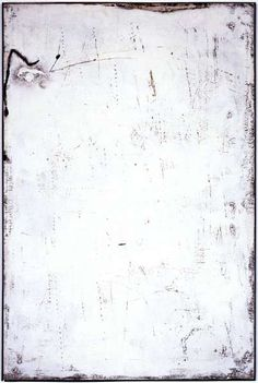 Antoni Tapies -  All White No. II, 1955,  Mixed media on canvas -  57 1/2 x 38 in. (146.1 x 96.5 cm) - MoCA Los Angeles