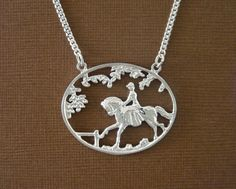 Ride in the Park - Equestrian Pendants and Necklaces, Horse Pendants and Necklaces | Loriece.com