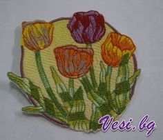 machine embroidery flowers