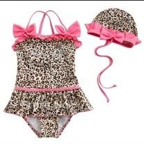 Taking a trip to the beach soon?  Take your little princess in style.  This high quality one piece swimsuit comes with a swim cap.     Toddler sizes available  3T, 4T, 5T & 6