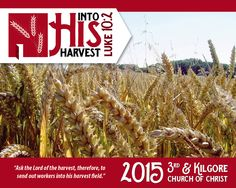 Here is a screen banner I created for the 3rd and Kilgore Church of Christ that complemented their theme for 2015, Into His Harvest. I also designed a matching banner that hangs at the front of their auditorium throughout the year. May some respond to the Lord's call to become workers in his harvest.