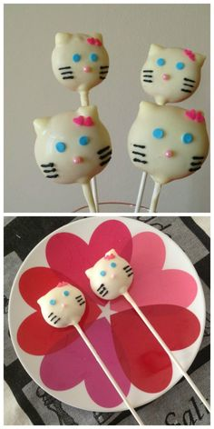 How To Make Hello Kitty Cake Pops  #HelloKitty #cakes #cakepops
