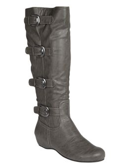 "Wide Width Frankie Wide Calf Boot by Comfortview® | Wide Calf Boots from Woman Within. Size 9 has 19"" circumference"