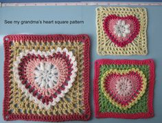 Cute crochet heart - for a doll's blanket, pin a little heart to a headband, or stitch two hearts together to make a little Valentine's purse for a doll.