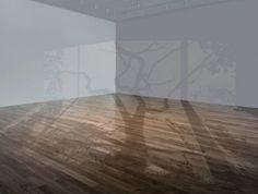 """As instalações de Mary Temple brincam com a nossa maneira racional de organizar as coisas. O público tem como primeiro instinto buscar onde está a janela pela qual estão entrando tais sombras, então, """"percebe"""" que se trata de uma projeção, mas quando vai tentar interagir, projetando sua sombra sobre as demais, descobre que na verdade são pinturas idênticas à sombras.    Leia mais: http://lounge.obviousmag.org/sphere/2012/09/janelas-imaginarias.html#ixzz270Z6lA8O"""