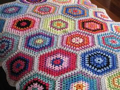 -- Ruby Hexagon Blanket by One Flew Over