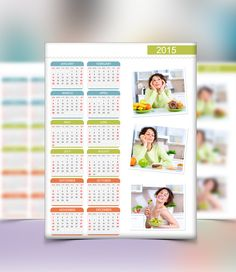 Personalized calendars  classic layouts portrait. Available in US Letter & A4