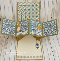 Stampin' Up! - Moroccan Nights - Pop-Up Panel Card ....  Teri Pocock - http://teriscraftspot.blogspot.co.uk/2016/08/moroccan-nights-pop-up-panel-card.html