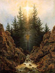 Caspar David Friedrich - Kreuz im Walde