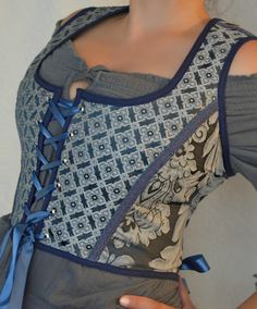 Victorian Renaissance Medieval Corset by wolfinsheepsclothing