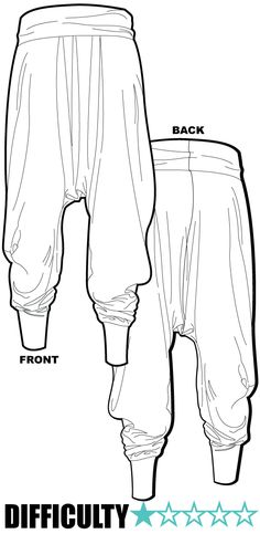 Ralf Pink Patterns /Harem pants / Khaki Merino jersey.