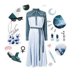 """""""Spring"""" by anduu19 on Polyvore featuring NYX, Marc Jacobs, Laura Mercier, Sacai, Old Navy, Ranjana Khan, Le Specs, Pottery Barn and springdresses"""