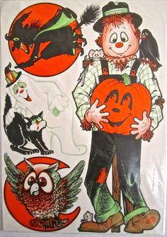 Vintage Beistle Halloween cutouts from the early then updated for the version 3 more items were added to make it 10 decorations Beistle Halloween, Retro Halloween, Halloween Pictures, Halloween Ideas, All Hallows Eve 2, Vintage Halloween Decorations, Halloween Illustration, Vintage Postcards, Journal Ideas