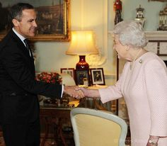 Governor of the Bank of England Mark Carney during has an Audience with The Queen at Buckingham Palace, 6 November 2013.