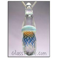 SALE  Glass Jellyfish Pendant Boro Focal Lampwork by GlassPeace, $20.13