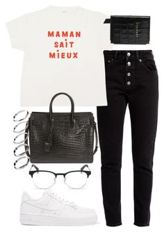 """""""Untitled #2514"""" by mariie00h ❤ liked on Polyvore featuring Balenciaga, Aspinal of London, Ray-Ban, NIKE, Yves Saint Laurent and ASOS"""