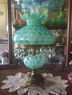 Antique Oil Lamps, Old Lamps, Antique Glassware, Vintage Lamps, Fenton Lamps, Hurricane Lamps, Kerosene Lamp, Let Your Light Shine, Tiffany Lamps
