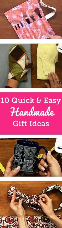 One challenge of the holidays is finding the perfect gift for everyone on your list. This year, make your gift-giving an excuse to spend more time sewing! Handmade gifts are not only a great way to share your talents, but are also a unique surprise from the heart. With the help of some of our handmade gift idea tutorials, your leftover fabric scraps can be made into gorgeous and useful gifts this holiday season. #handmadegifts