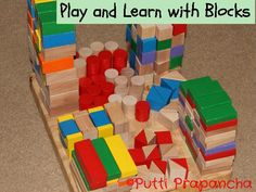 Blocks are so versatile... You can play and learn alphabets, simple maths like addition, measurements and more. How do your kids play with blocks? zina