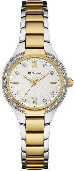 Bulova Women s 96X126 Analog Display Quartz Silver Watch You
