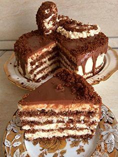 készül is a legkrémesebb csoda Dessert Cake Recipes, Just Desserts, Cookie Recipes, Romanian Desserts, Romanian Food, Delicious Deserts, Yummy Food, Tasty, Pastry Cake