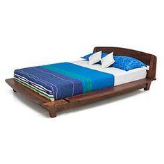 Tahiti Platform Bed (Teak Finish)