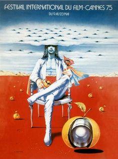 La 28ème édition du Festival de Cannes, en 1975 Auteur de l'affiche : Siudmak. Palme d'Or en 1975 : Chronique des années de braises de Mohammed Lakhdar-Hamina