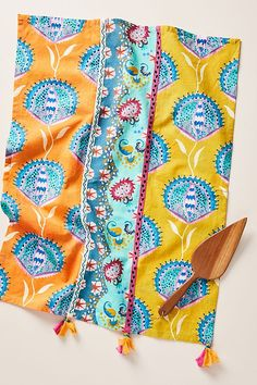Adonia Dish Towel by Anthropologie in Assorted, Kitchen Isle Of Man, Dish Towels, Tea Towels, Modern Pot Racks, Malta, Berry Baskets, Kitchen Collection, Food Trends, Kitchen Colors