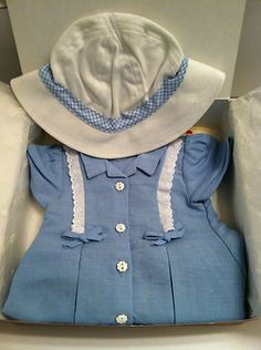 American Girl Molly's Route 66 Outfit Retired New Complete | eBay SOLD 7/7/13 Final Bid $122.50 (15 bids)  (spots on hat?? mildew??)