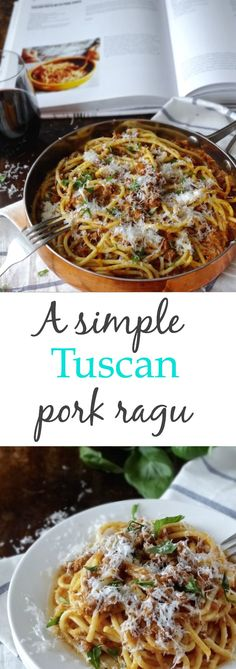 Such a simple slow cooked pork ragu - you won't believe how delicious it is with so few ingredients. This is a one pot meal you'll be making over and over again. | Plus Ate Six