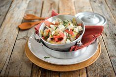 Salat aus Spargel, Wassermelone und Feta