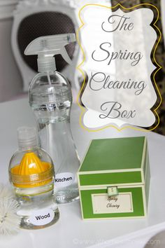 Using a Spring Cleaning Box to help you stay on track with your cleaning works wonders. See how via A Bowl Full of Lemons & At Home With Nikki