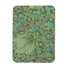 Wallpaper Pattern Sample with Forget-Me-Nots Magnet - sample design diy personalize idea