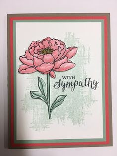 You've Got This, Rose Wonder, Sympathy Card, Stampin' Up, Rubber Stamping, Handmade Cards