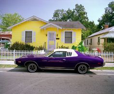 purple muscle car.  Ours was green with a black roof until I wrecked it..:( wife..