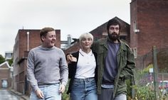 Actors Thomas Turgoose, Vicky McClure and Joseph Gilgun on the set of This Is England This Is England 88, Shane Meadows, Joseph Gilgun, Acid House, Evolution Of Fashion, Northern Soul, Bad Timing, Film Stills, Red Shirt