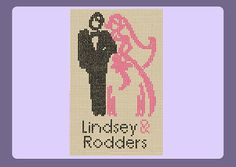 Pink Mr & Mrs Wedding Sampler Cross Stitch Pattern (Instant Download)