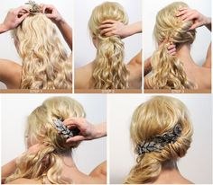 A beautiful hairstyle for prom, graduation or weddings!