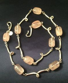 Tiffany-Co-Sterling-Silver-Pink-Rose-Quartz-Twirl-Necklace-With-Velvet-Case