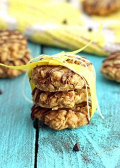 No Bake Breakfast Cookies- Very large possibility that I left the mixture in the fridge too long before forming. so they were crumbly and misshapen, but very very good